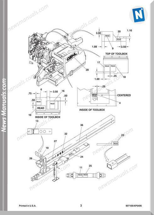 Gehl Agri 1260 1265 Forage Harvester Part Manual 907169