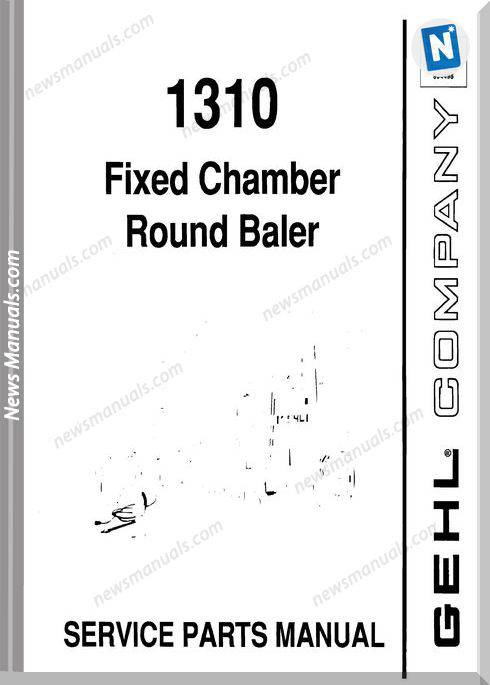 Gehl Agri 1310 Fixed Chamber Round Baler Parts 906075