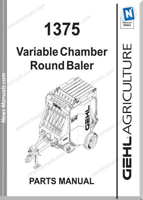 Gehl Agri 1375 Variable Chamber Round Baler Parts 908172