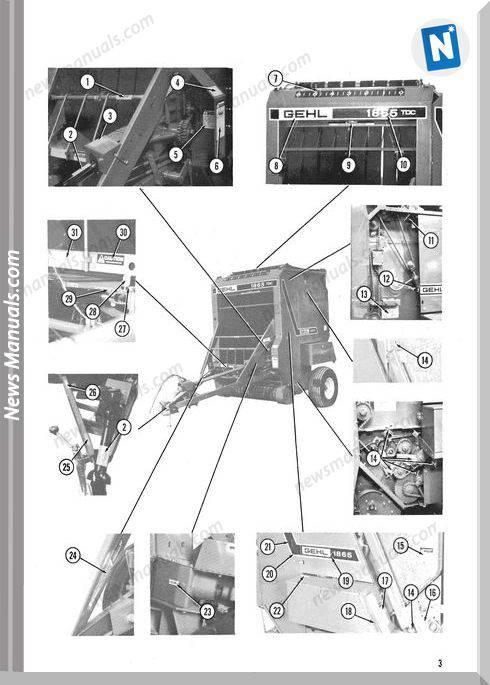 Gehl Agri 1865 Variable Chamber Parts Manual 904114