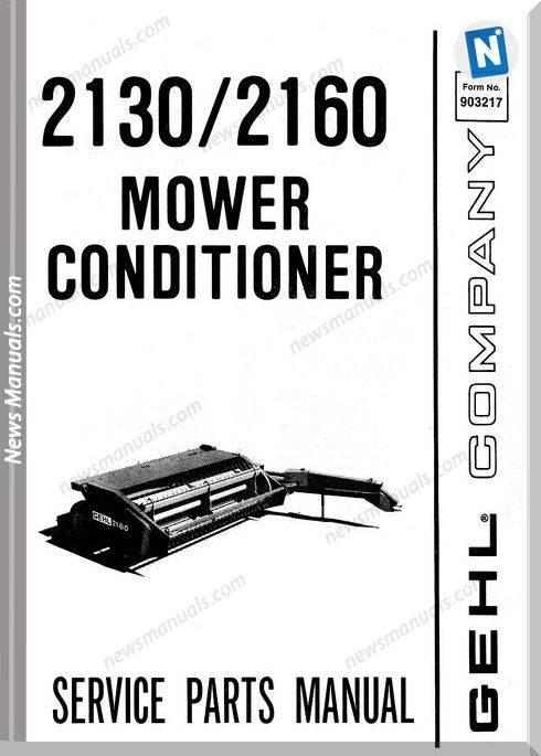 Gehl Agri 2130 2160 Mower Conditioner Parts 903217