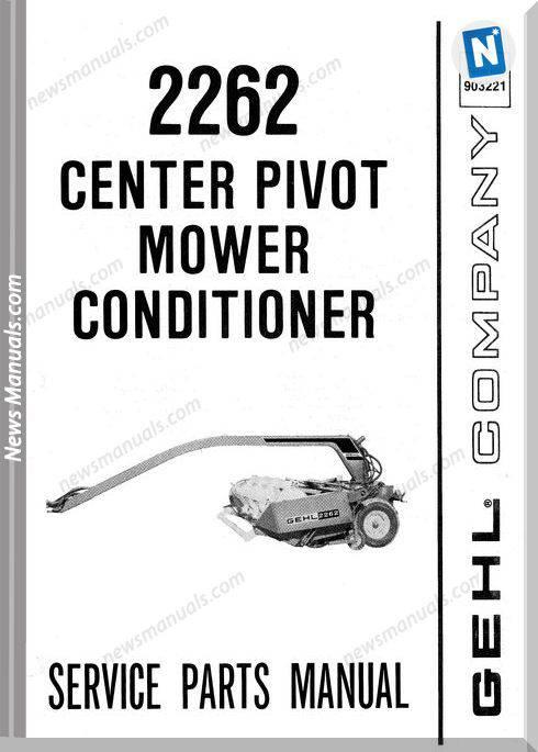 Gehl Agri 2262 Center Pivot Conditioner Parts 903221