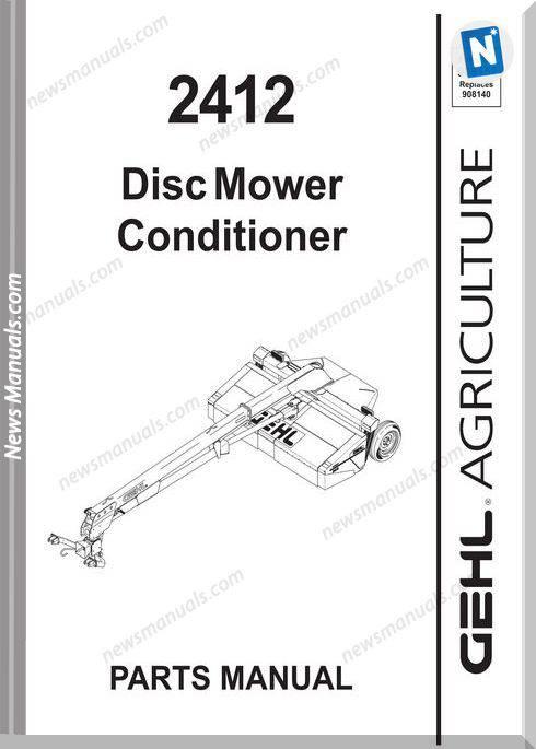 Gehl Agri 2412 Disc Mower Conditioner Parts 908152