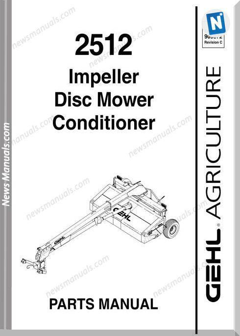 Gehl Agri 2512 Impeller Disc Mower Conditioner Parts