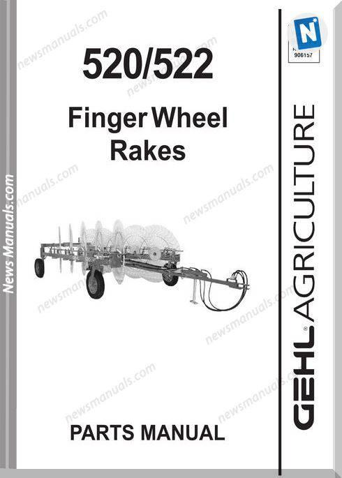 Gehl Agri 520 522 Finger Wheel Rakes Part Manual 909874