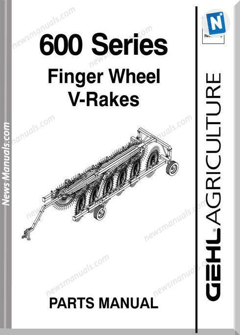 Gehl Agri 600 Series Finger Wheel Vrakes Parts 909922