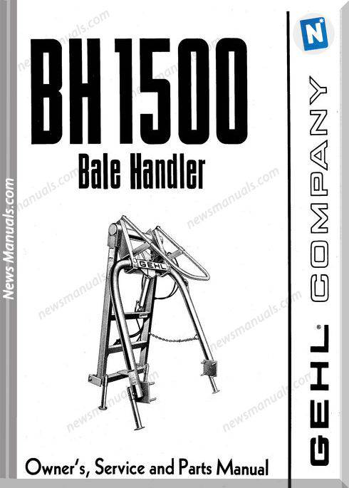 Gehl Agri Bh1500 Bale Handler Parts Manual 901977