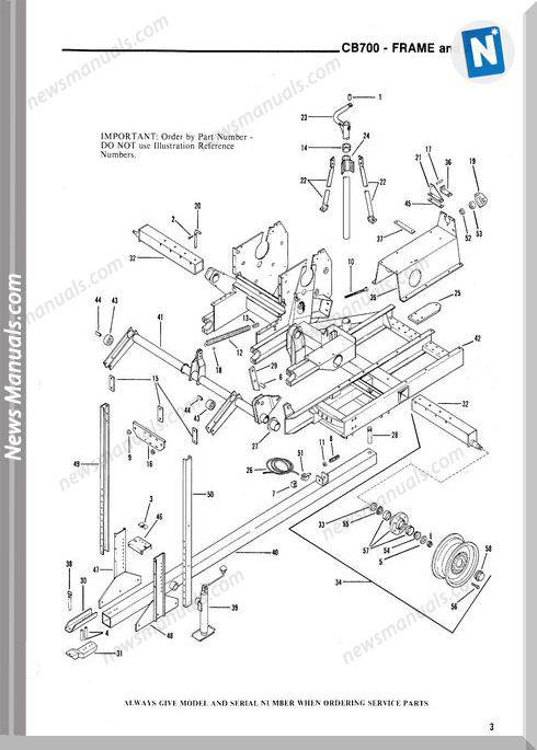 Gehl Agri Cb700 Forage Harvester Parts Manual 901988