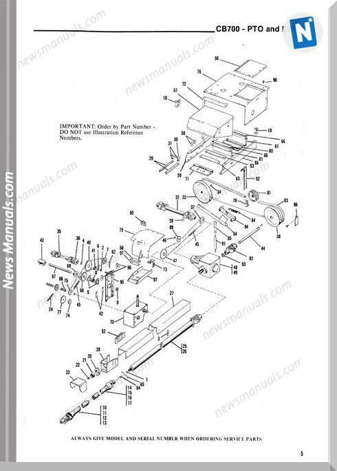 Gehl Agri Cb700 Forage Harvester Parts Manual 901988