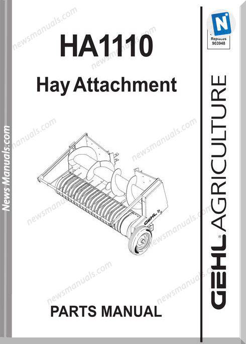 Gehl Agri Ha1110 Hay Attachment Parts Manual 907551