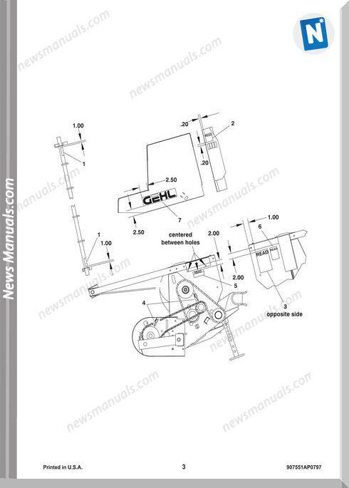 Gehl Agri Ha1110 Hay Attachment Parts Manual 907551