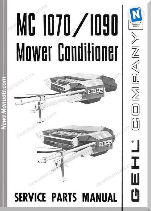 Gehl Agri Mc1070 1090 Mower Conditioner Parts 902579