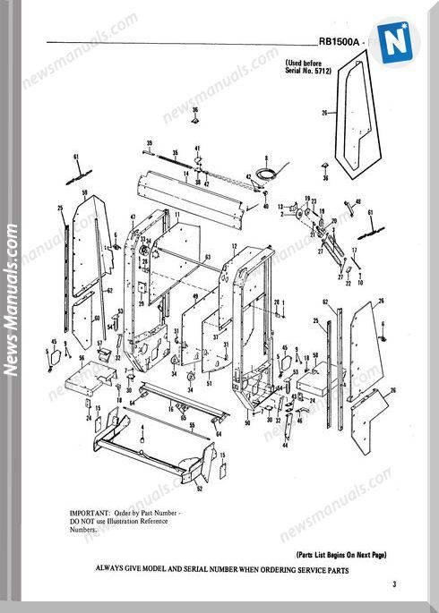 Gehl Agri Rb1500A Round Baler Parts Manual 901959