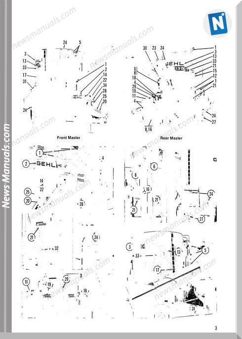 Gehl Agricultural Gehl 135 Mix All Parts Manual 903478