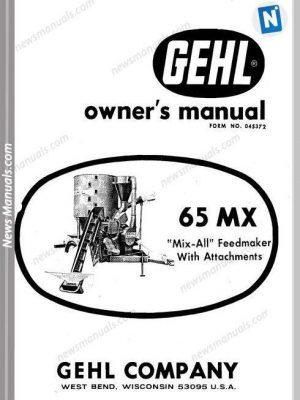 Gehl Agri 300 Series Scavenger Manure Spreader Parts