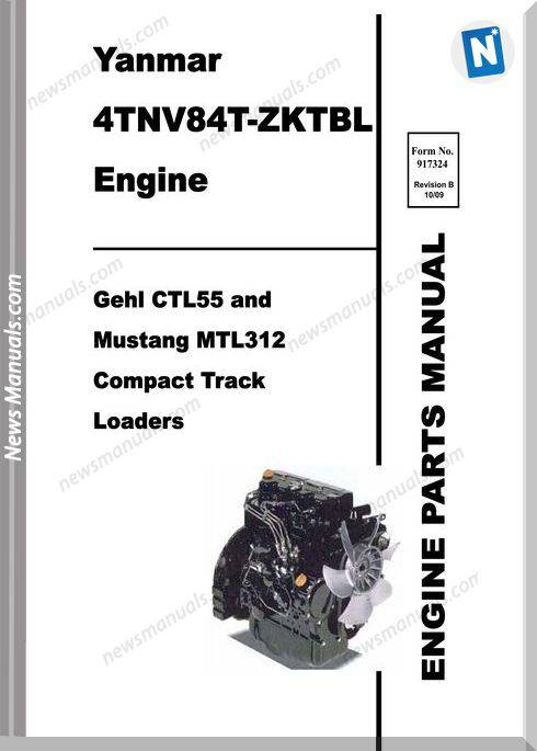 Gehl Ctl55 Compact Track Yanmar 4Tnv84T Parts 917324B