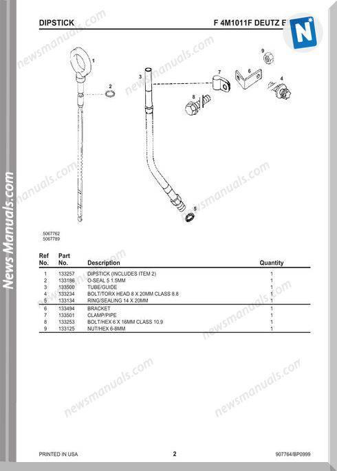 Gehl Deutz-F4M1011F-Engine-Service-Parts-Manual-907764B