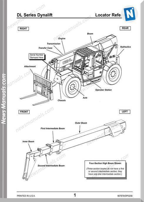 Gehl Dl6 Dl8 Dl10 Dl12 Telescopic Handler Parts 907878D