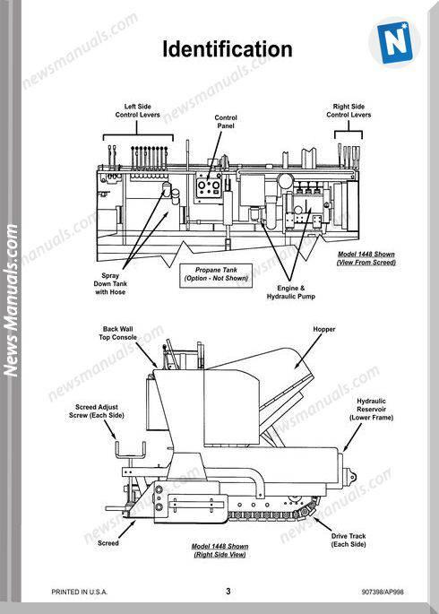 Gehl Pavers 1438 1448 Early Models Operator Manual