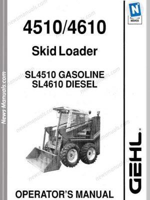 Gehl Skid Loader 4510 4610 Models Operator Manual