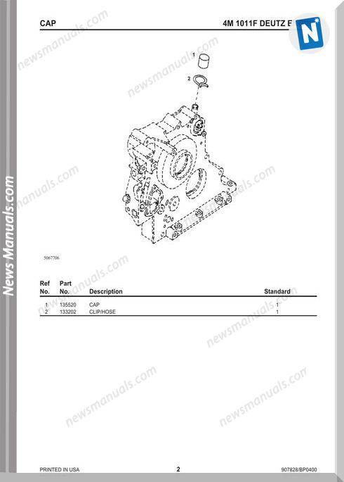 Gehl Sl5635 6635 Skid Loader Parts Manual 907828