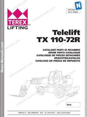 Genie Model Telelift Tx 110-72R Models Parts Manual