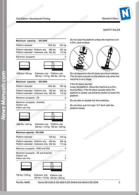 Genie Scissor Gs 2032 2632 3232 To Sn 51682 Gs 2032 Gs