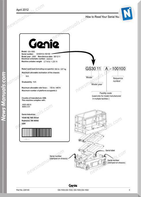 Genie Scissors Lift H Gs 1530 Gs 1532 Gs 1930 Gs 1932 From