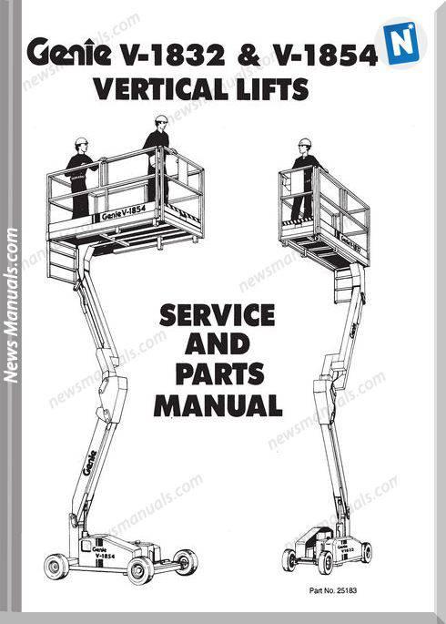 Genie Scissors Lift V 1932 And V 1854 Parts Manuals