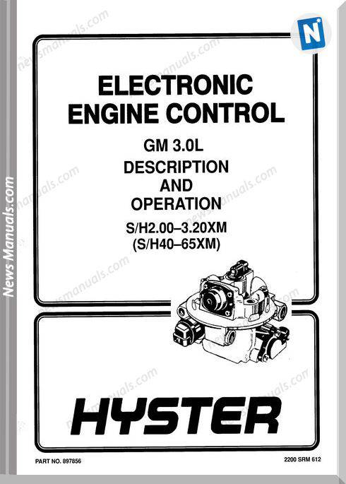 Gm Hyster Eec Hyster 3.0L English Operation Manual