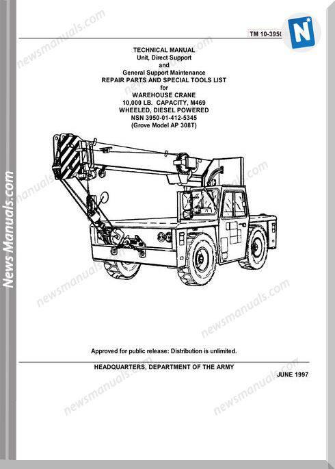 Grove Crane Ap 308T Parts Manual