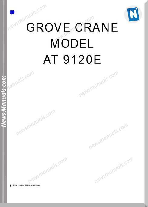 Grove Crane At9120E Operator And Maintenance Manual