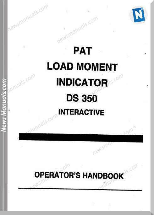 Grove Pat Load Moment Indicator Ds350 Operator Manual