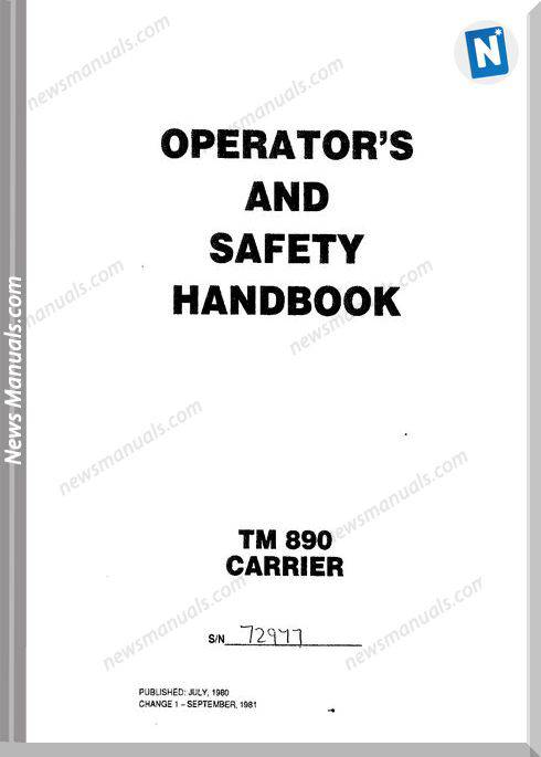 Grove Tm890 Carrier Operator Manual