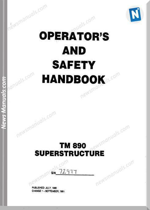 Grove Tm890 Superstructure Operator Manual