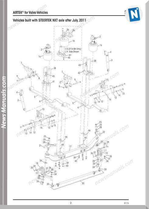 Hendrickson Airtek Volvo Vehicles Sp174F Parts Manual