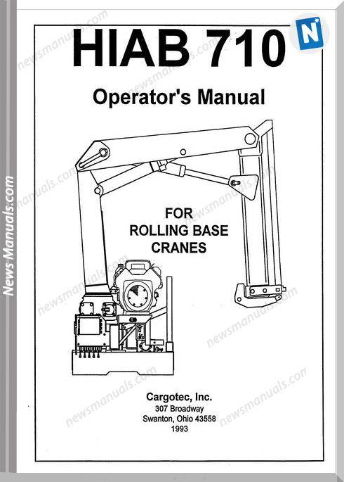 Hiab 710 Operators Manuals