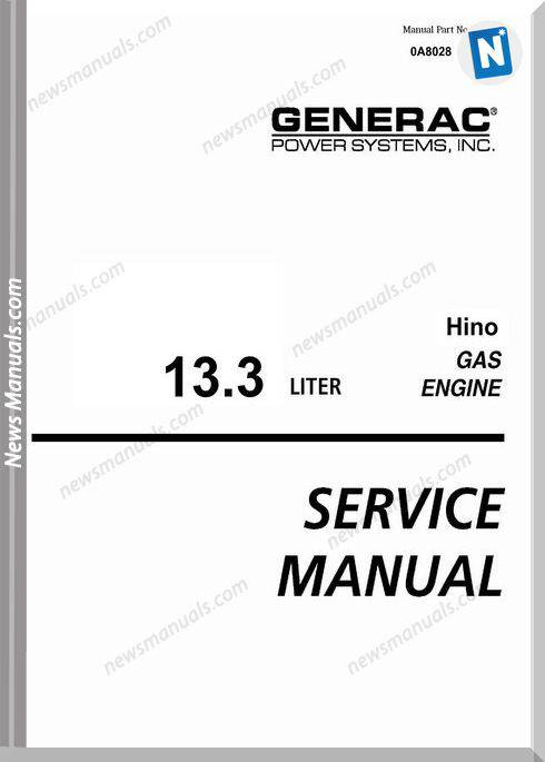Hino 13,3L Gas Engine Service Manual Lexe0606-00