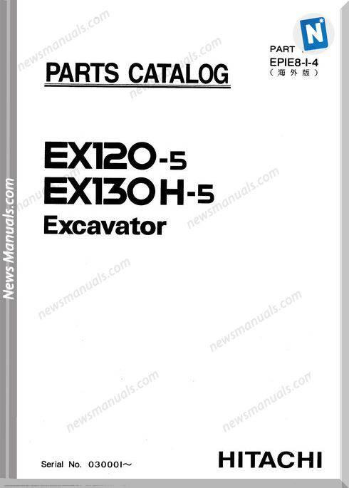 Hitachi Basic Parts Catalog Of Ex120-5, 130H-5