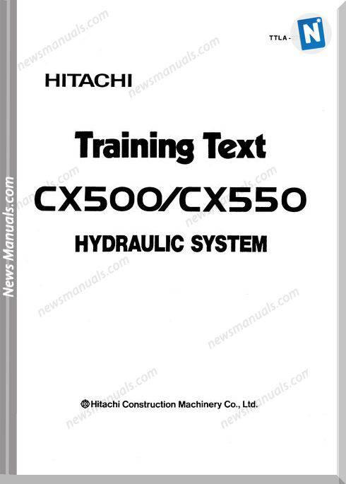 Hitachi Cx500 Hydraulic System