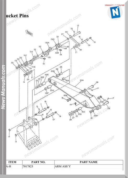Hitachi Ex150 1 Spare Parts