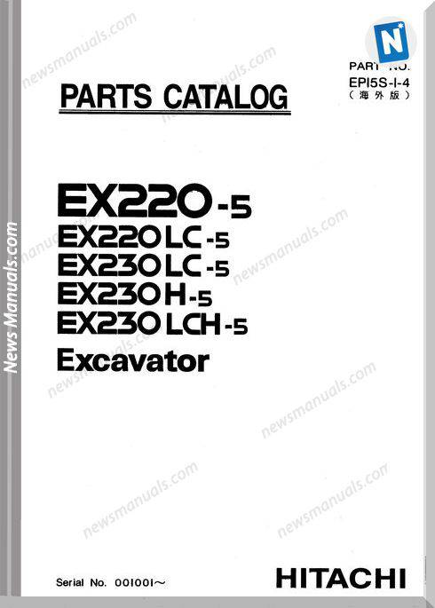 Hitachi Ex220-5 Ex230-5 Set Parts Catalog