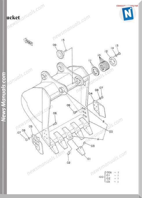 Hitachi Ex300 1 Spare Parts