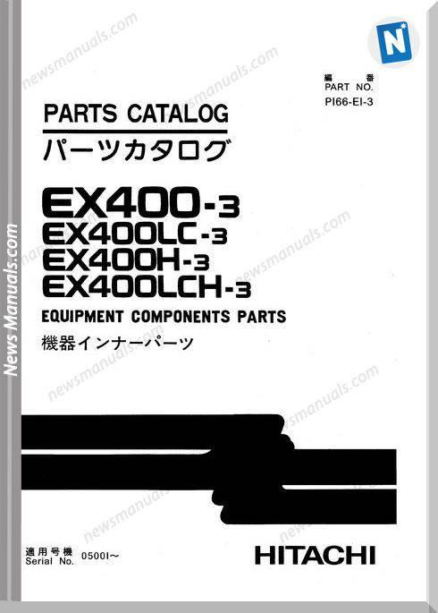 Hitachi Ex400 3 Equipment Components Parts