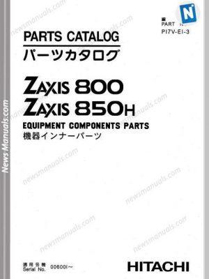 Hitachi Excavator Zaxis 800 850H Equipment Componenents Part