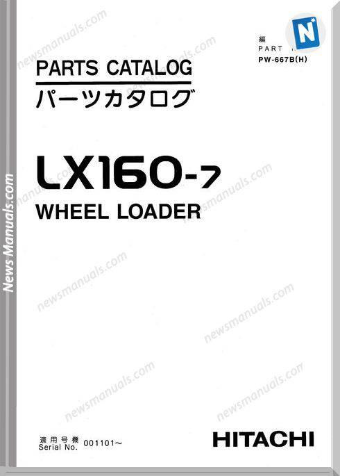 Hitachi Lx160 7 Parts Catalog