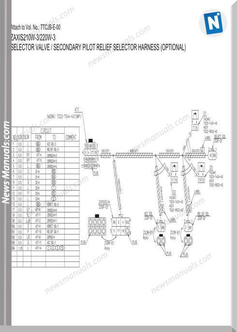 Hitachi Zaxis 140W 170W 190W 210W 220W 3 Electrical Cd2