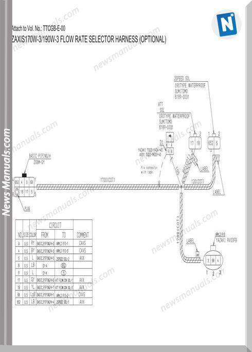 Hitachi Zaxis 170W-3,190W-3 Circuit Diagram