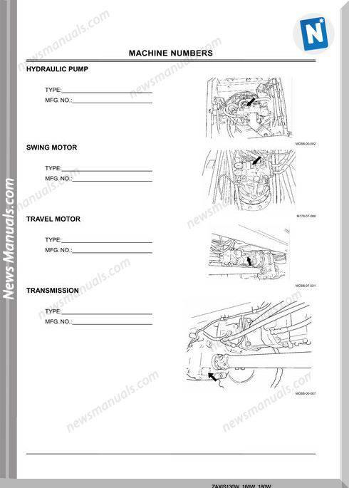 Hitachi Zaxis 210W Operators Manual