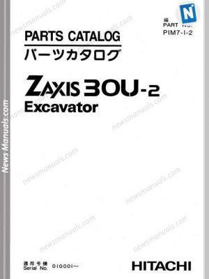 Hitachi Zaxis 30U-2 Excavator Parts Catalog